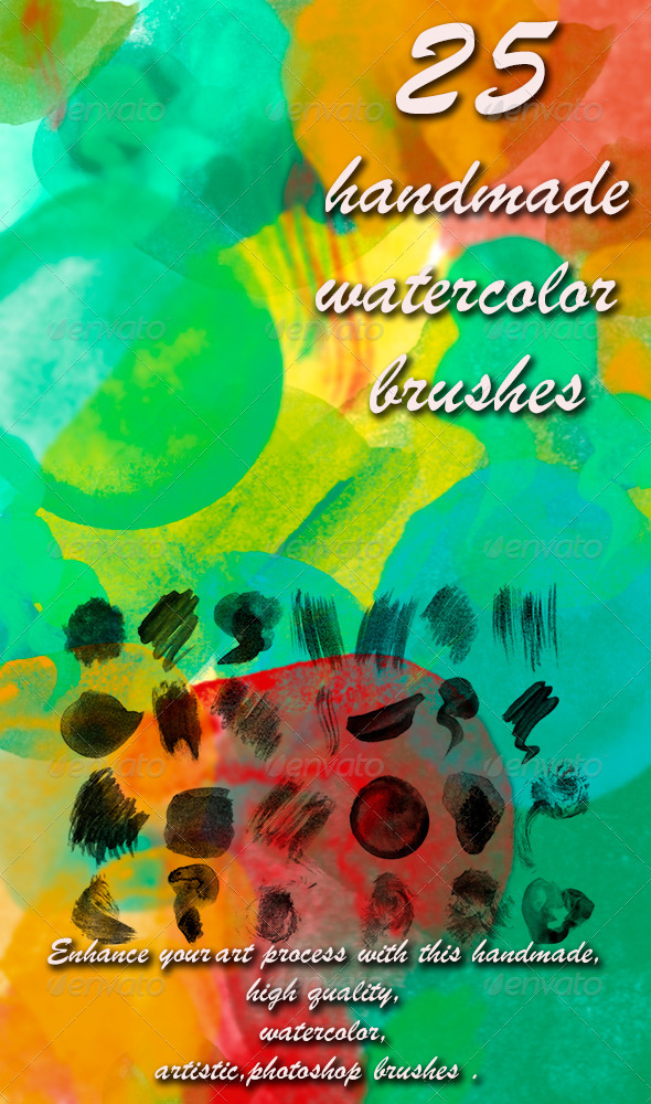 GraphicRiver 25 Watercolor Brushes 5742139