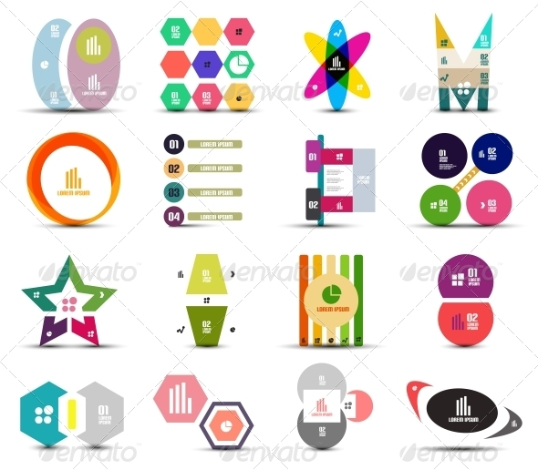 Set of Infographic Templates Shapes Elements