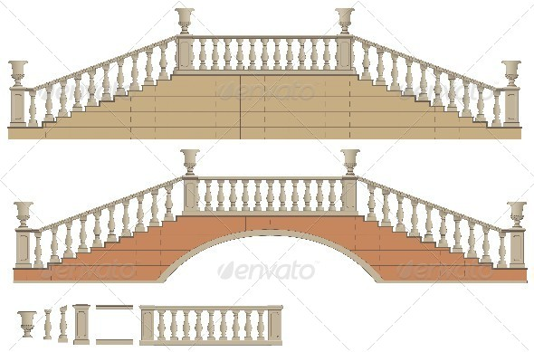 GraphicRiver Vector Two-Way Ladder and Bridge 5514328