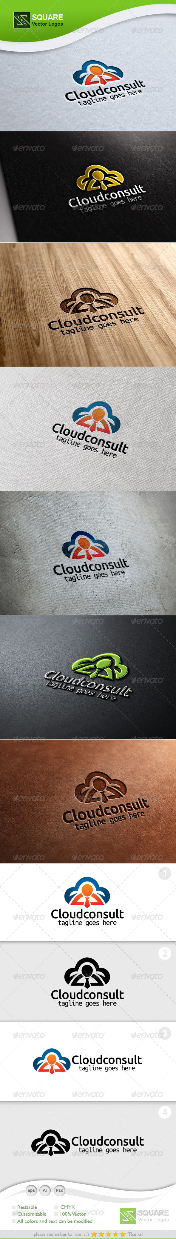 GraphicRiver Cloud Consultancy Vector Logo Template 5754570