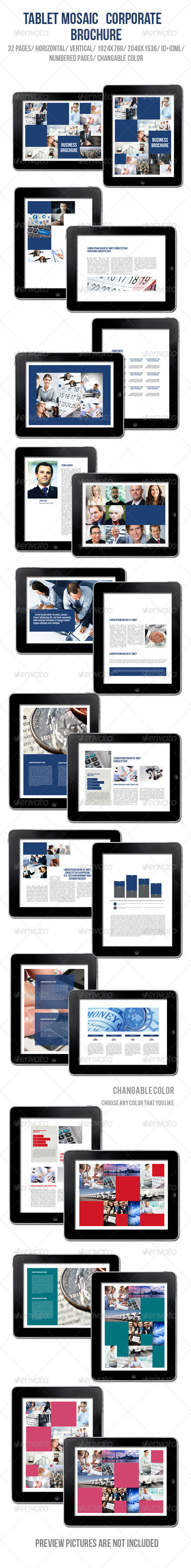 GraphicRiver Tablet Mosaic Corporate Brochure 5754684