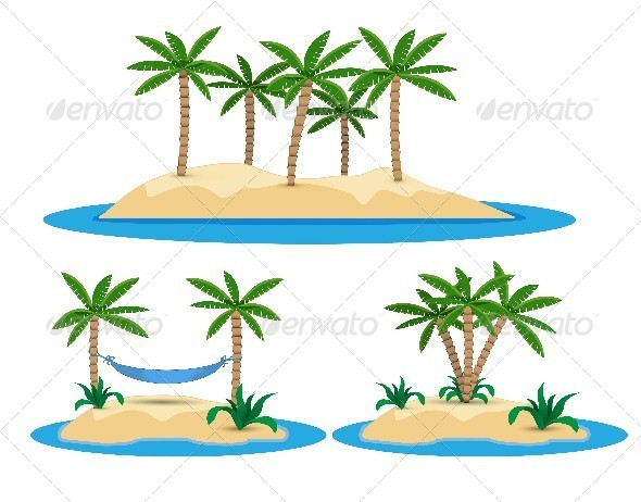 GraphicRiver Islands with Palm Trees 5514408