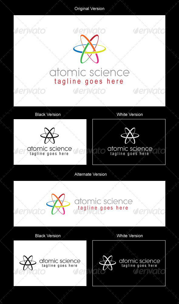Atomic Logo Design - Abstract Logo Templates