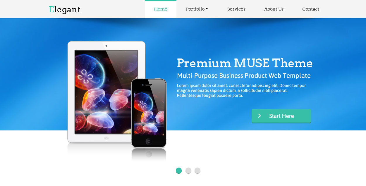 Elegant Muse Web Template