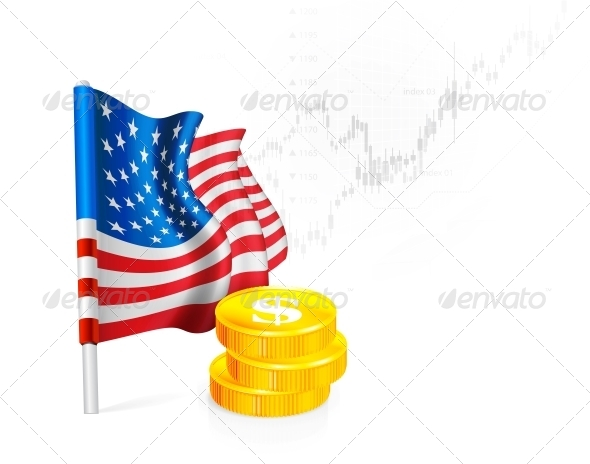 GraphicRiver US Flag with Coins 5756048