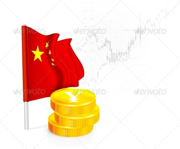 GraphicRiver Chinese Flag with Coins 5756057
