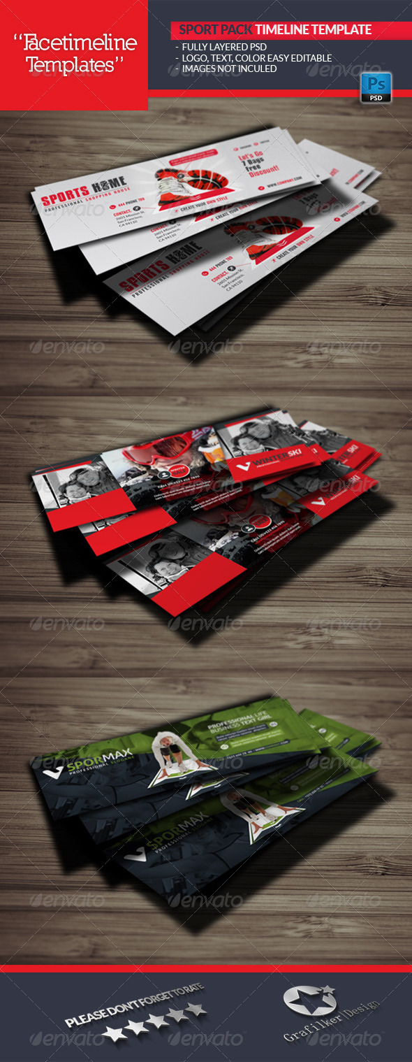 GraphicRiver Sport Pack Timeline Template 5743112