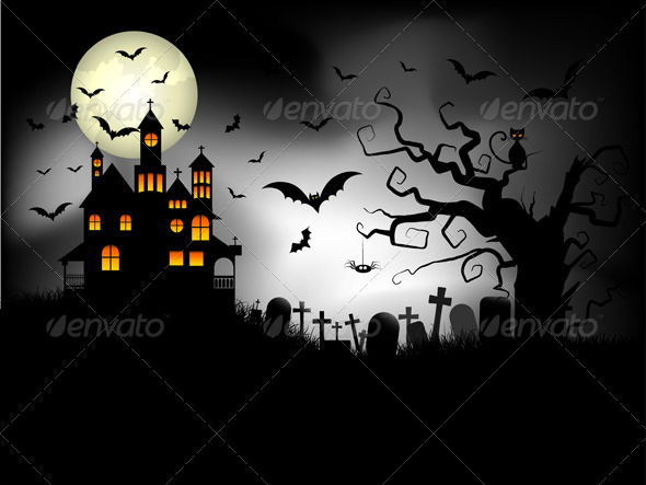 GraphicRiver Spooky Halloween Background 595140