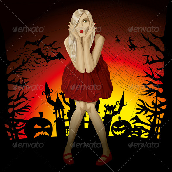 GraphicRiver Vector Halloween Background 5756222