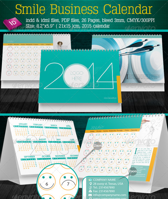 GraphicRiver Smile Business Calendar 5690981