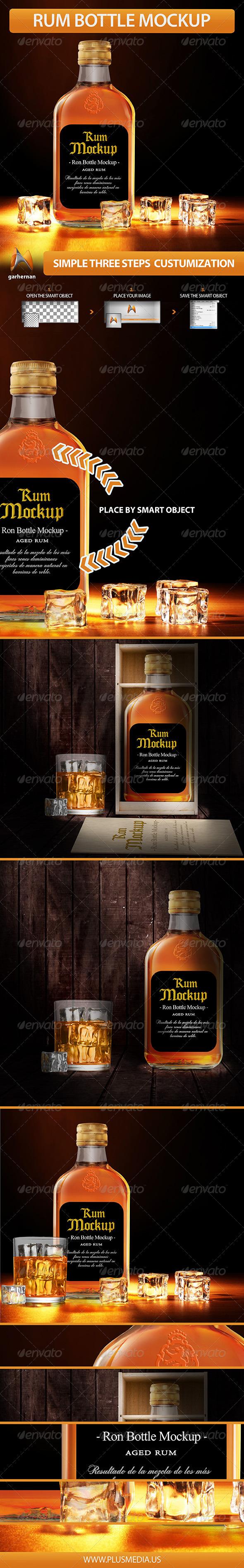 GraphicRiver Rum Bottle Mockup 5756245