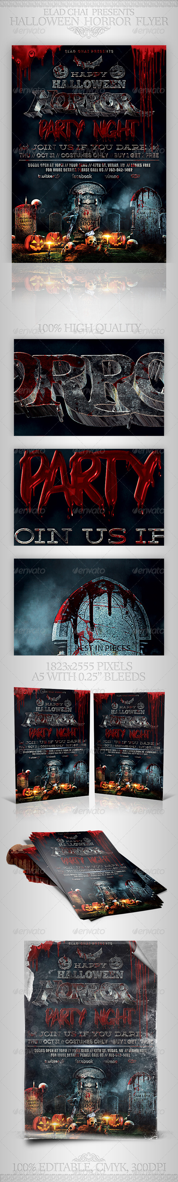 GraphicRiver Halloween Horror Night Party Flyer Template 5688939