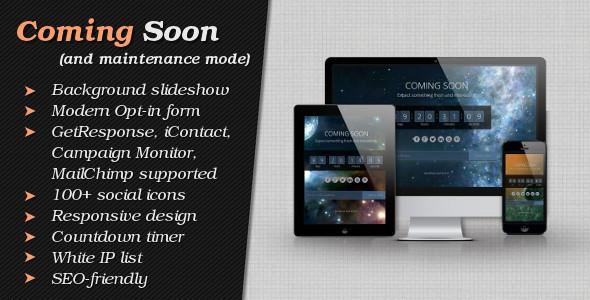 CodeCanyon Coming Soon and Maintenance Mode 5756382