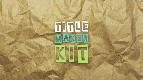 Cartoon Title Maker Kit Hand-Drawn And Stop-Motion