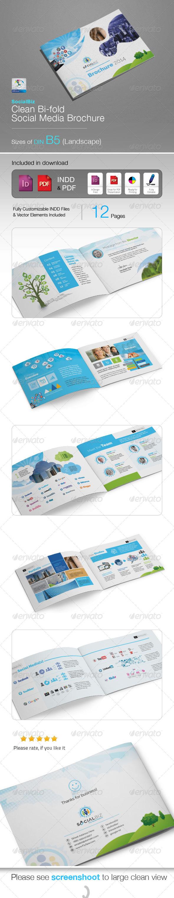 GraphicRiver SocialBiz B5 Social Media Brochure 5756448