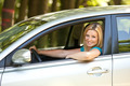 Beautiful girl enjoying her new car - PhotoDune Item for Sale