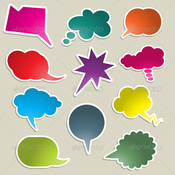 GraphicRiver Speech bubble collection 595243