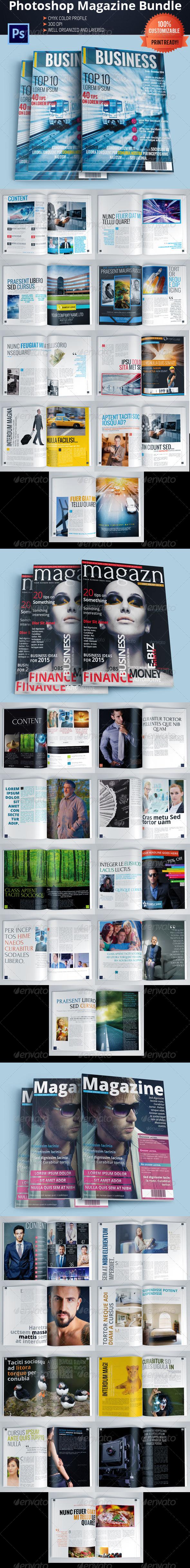 GraphicRiver Magazine Template Bundle Vol.5 5757036