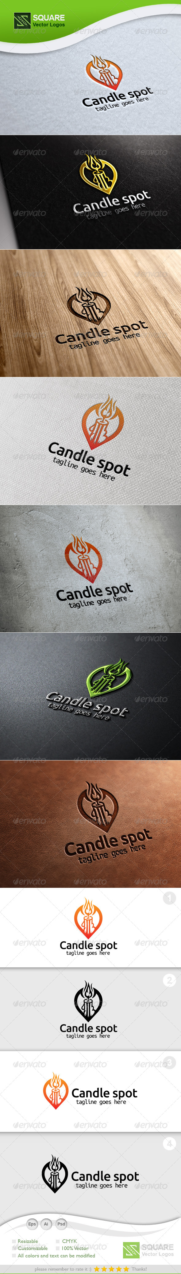 Candle, Locator Vector Logo Template - Symbols Logo Templates