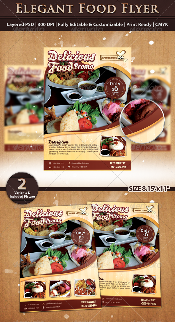 GraphicRiver Elegant Food Flyer Template 5757334