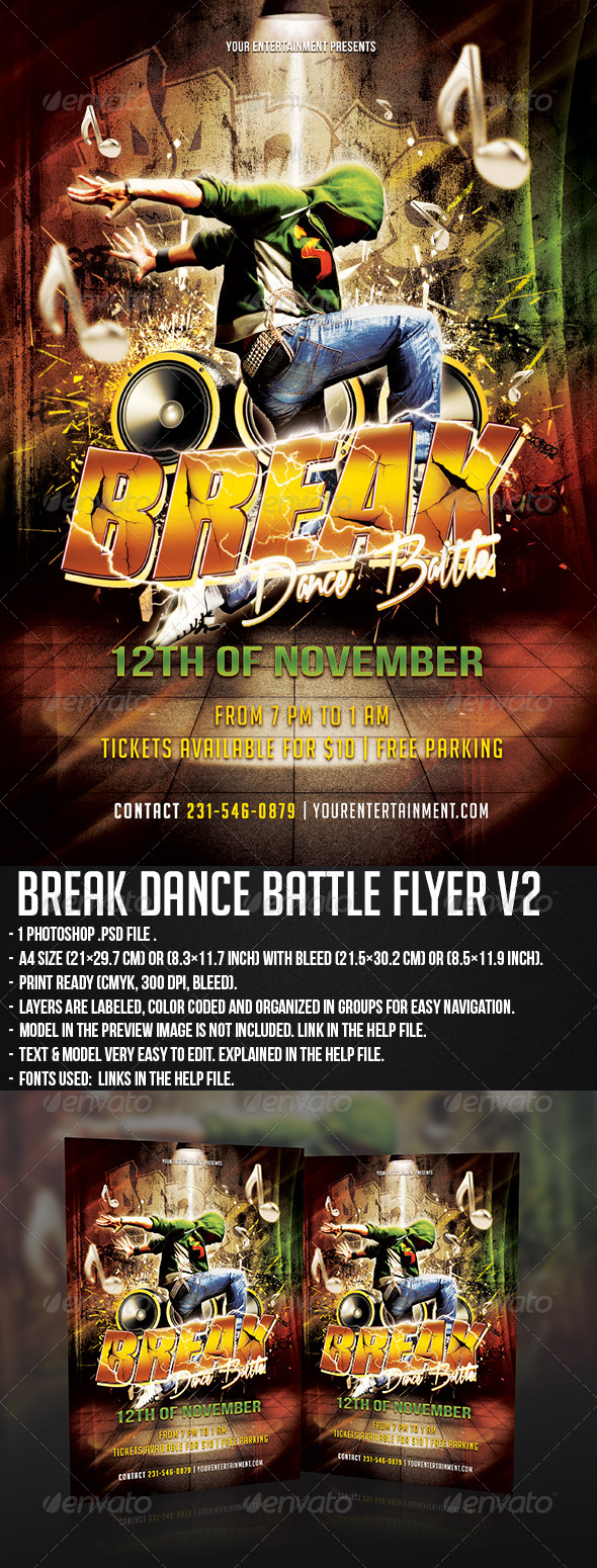 GraphicRiver Break Dance Flyer V2 5694169