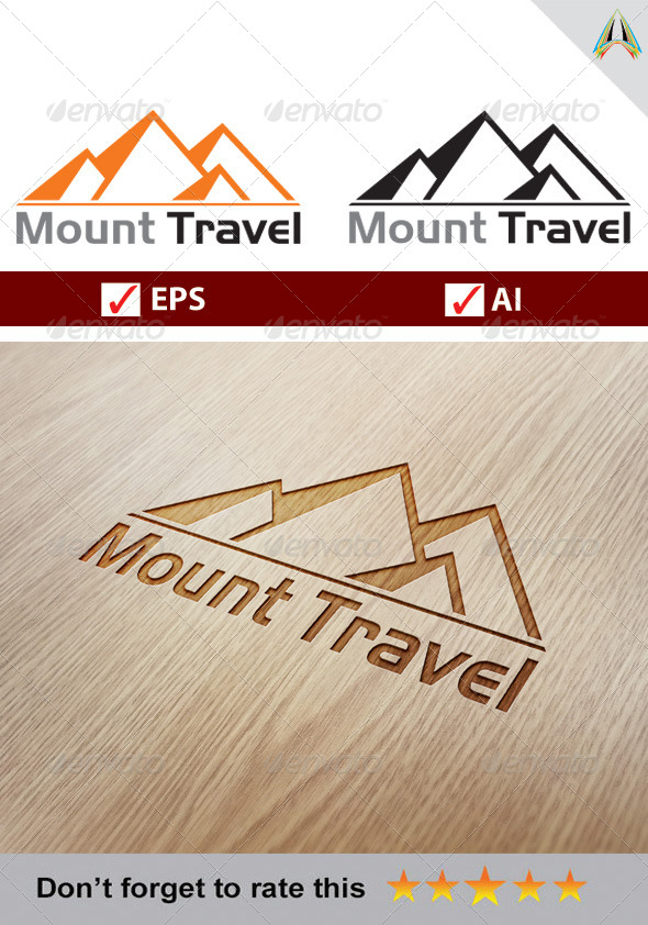 GraphicRiver Mount Travel Logo 5757696