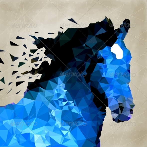 GraphicRiver Abstract Horse of Geometric Shape Symbols 5757741