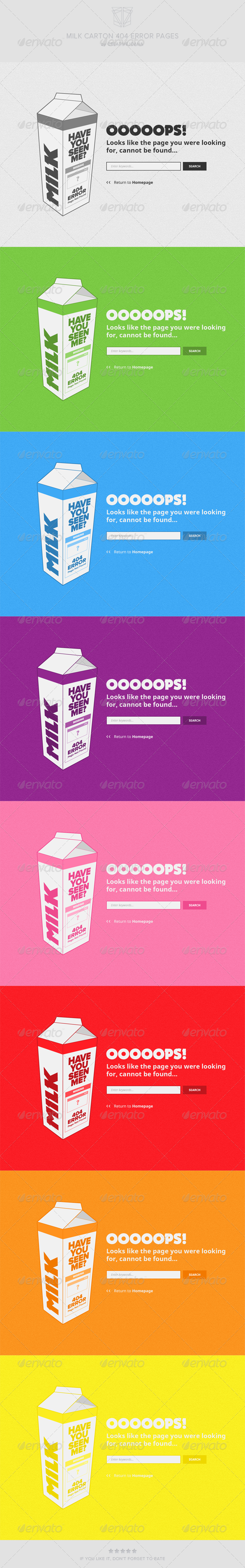GraphicRiver Milk Carton 404 Error Pages 5757742
