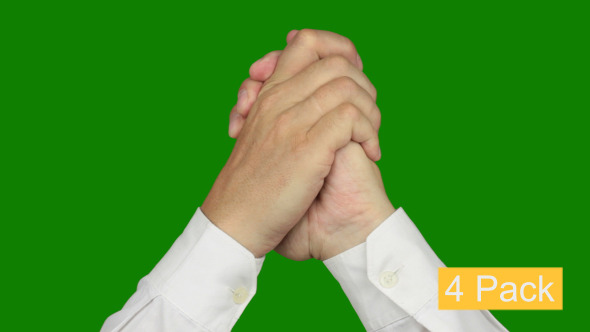Stock Footage - Hand Signs On Chroma Key (4-Pack) VideoHive