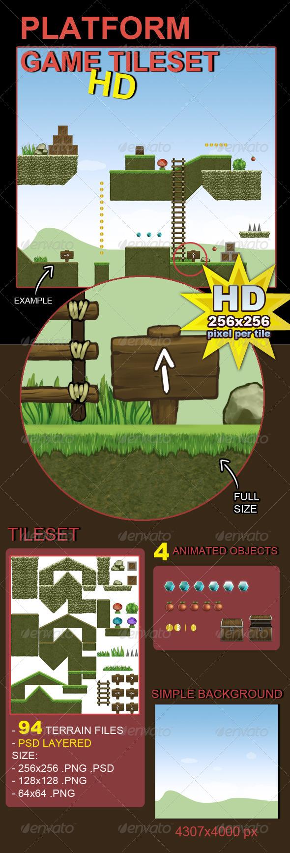 GraphicRiver Platform Game Tileset HD 5705954