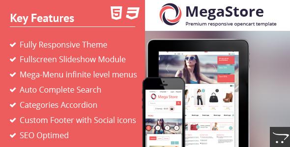 ThemeForest Megastore Responsive OpenCart Store 5705653