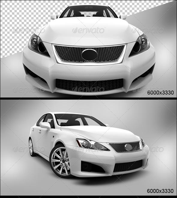 GraphicRiver White Car 2 5757943