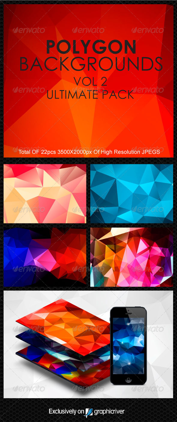 GraphicRiver Polygon BackgroundS Vol.2 5758121