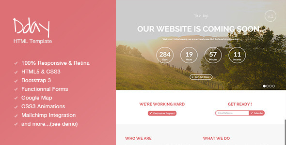ThemeForest Dday Coming Soon page 5758349