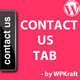 Contact us Tab Menu - WordPress Plugin