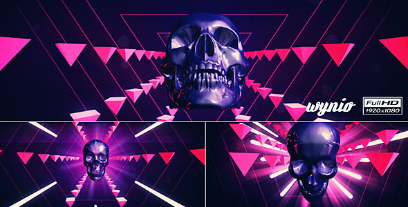 Retro Pyramid Skulls