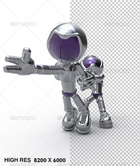 GraphicRiver Silver Guy Character Try Pull Escaping Astronaut 5758603