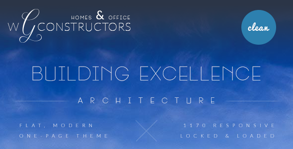 ThemeForest Constructors One Page Architecture PSD Theme 5758832