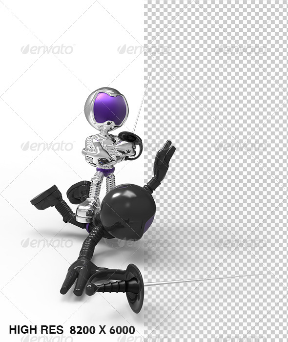 GraphicRiver Silver Astronaut 3D Character Duel & Winner 5758991