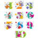 Set number cartoon collection with elves - GraphicRiver Item for Sale