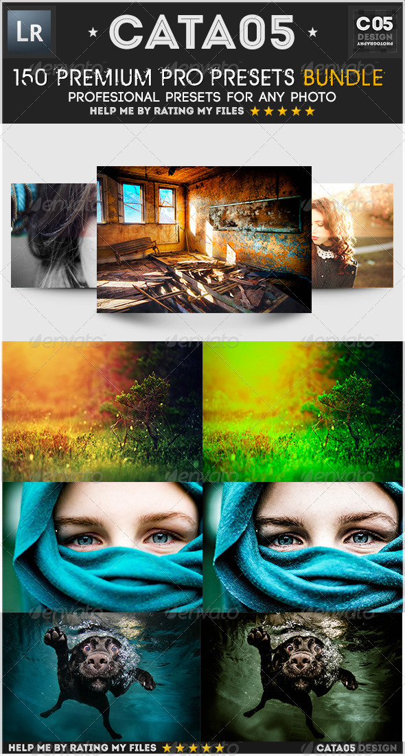 GraphicRiver 150 Premium Pro Presets Bundle 5759279
