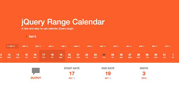 Year Calendar Jquery Plugin : Jquery range calendar plugin by webagelo codecanyon