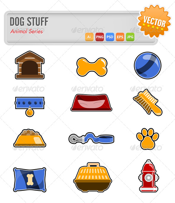 GraphicRiver Dog Accessories et 5759320