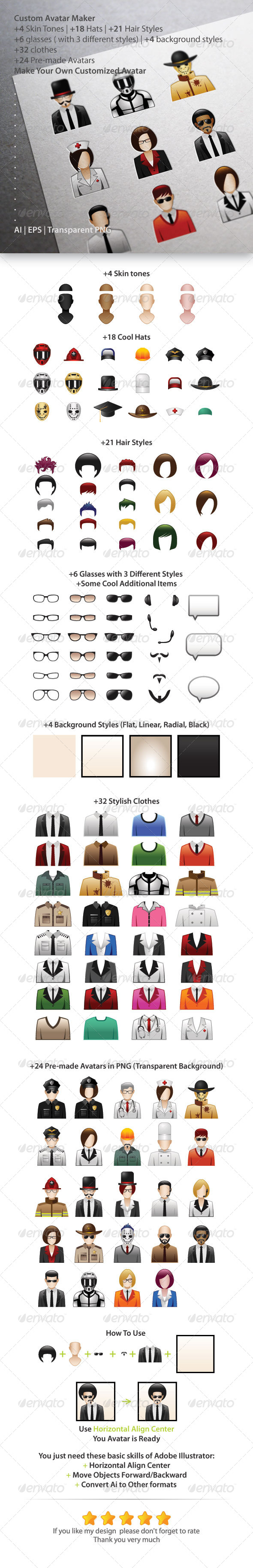 GraphicRiver Custom Avatar Maker 5759452