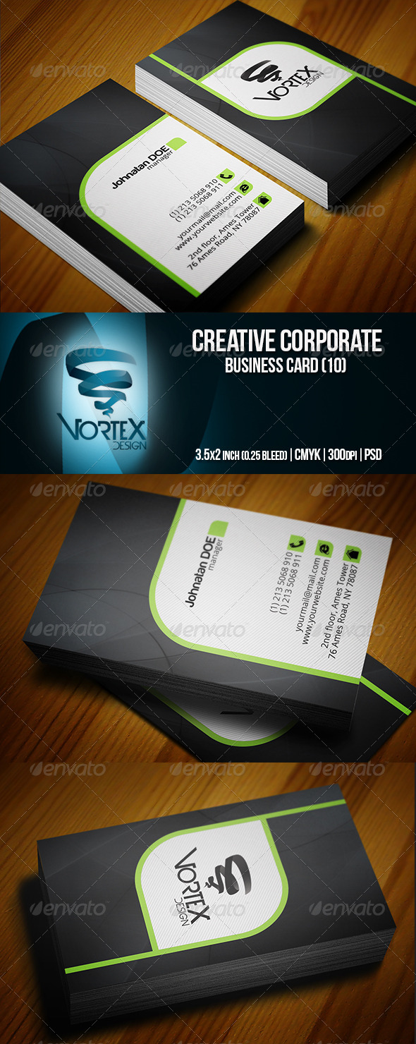 GraphicRiver Creative Corporate Business Card 10 5759459