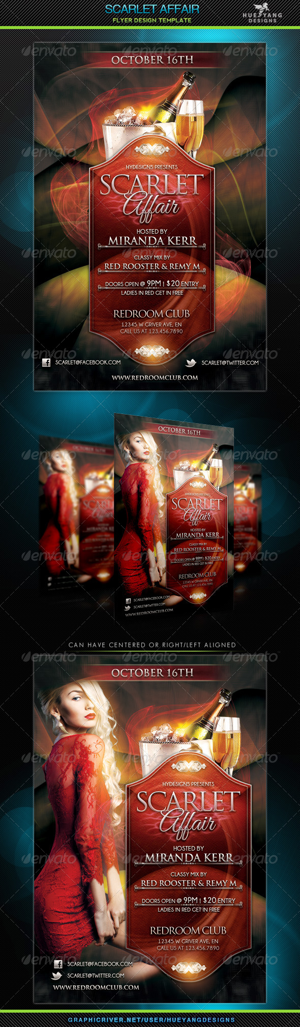 Scarlet Affair Flyer - Clubs & Parties Events