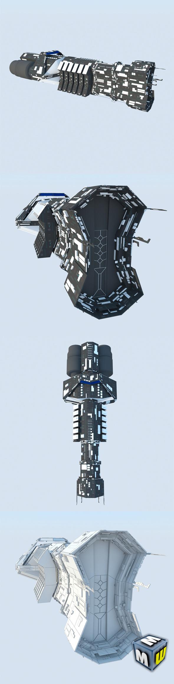 3DOcean Spaceship Cargo Ultra MAX 2011 5759618