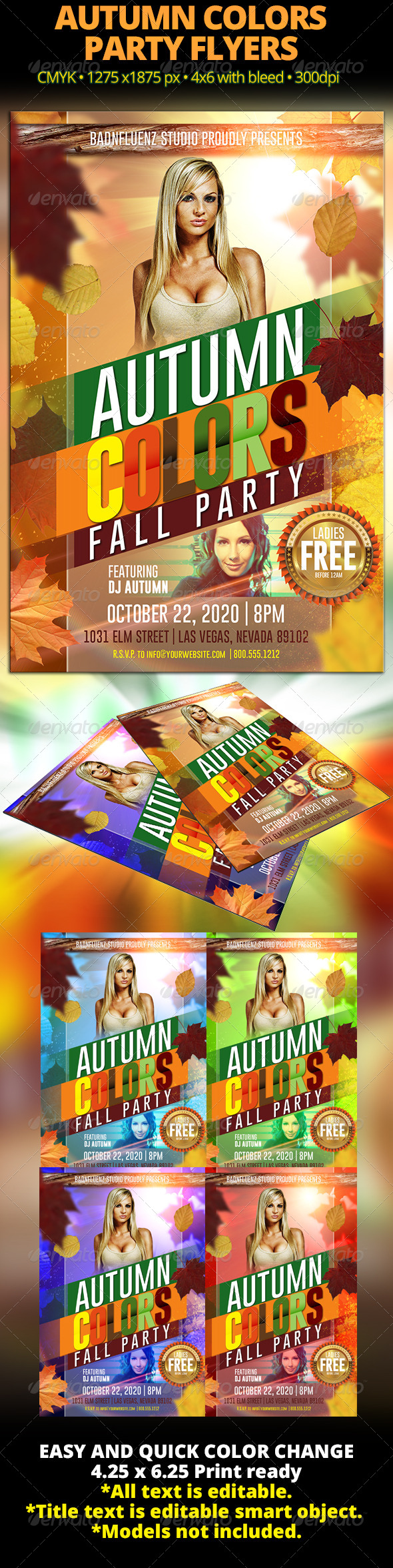 GraphicRiver Autumn Colors Fall Party Flyer 5759632