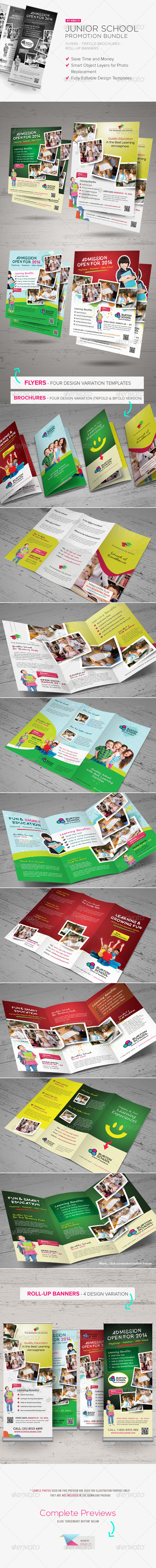 GraphicRiver Junior School Promotion Bundle 5759707