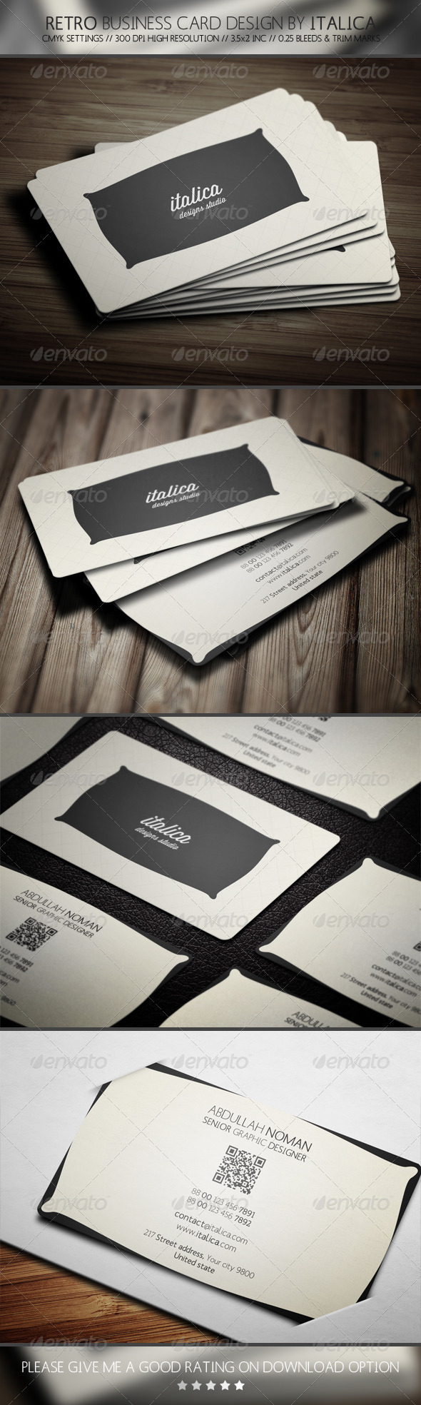 GraphicRiver Retro Business Card Design by Italica 5760105